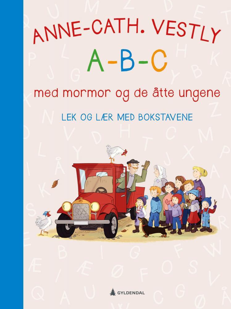 A-B-C med mormor og de åtte ungene : lek og lær med bokstavene